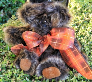 Faux Mink Bear with faux suede paws
