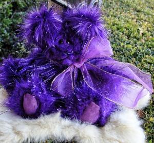 Purple Party Bear