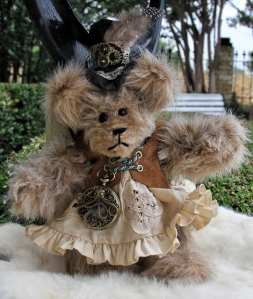 Steampunk Bear with Suede Vest-- Sold!