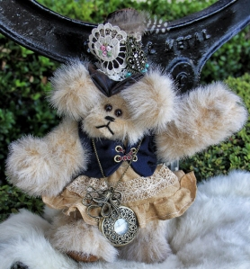Steampunk Bears, Dani black vest (594x640)