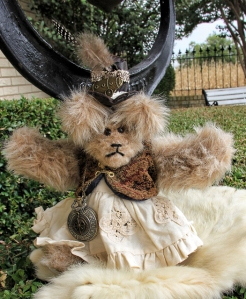 Steampunk Bear with tapestry vest--Sold!