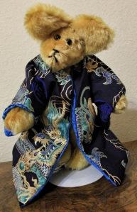 Blue Dragon Gold Mohair Bear