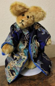 Blue Dragon Gold Mohair Bear