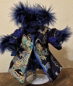 Blue Dragon Blue Plush Bear
