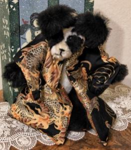 Black Dragon Mohair Panda Bear