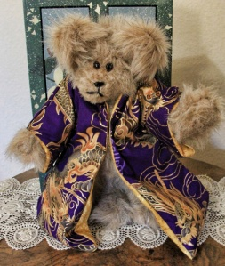 Purple Dragon Light Brown Bear